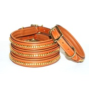 Pear Tannery - Clincher Leather Dog Collar - Tan