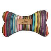 The Natural Pet Toy Company - Dog Bone Toy with Aniseed - Carnaby Stripe