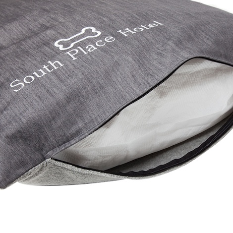 Personalised Grey Dog Bed 5
