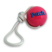 Planet Dog - Orbee Tuff FETCH Ball with a Rope - Pink