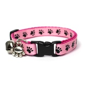 Mog's Togs - Pink Pawprints Safety Cat Collar
