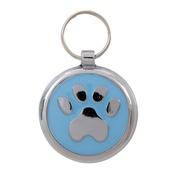 Tagiffany - Smarties Light Blue Paw Pet ID Tag
