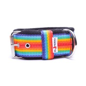 El Perro - 4cm Width Fleece Comfort Dog Collar – Rainbow