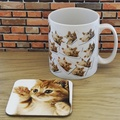 Personalised Mug and Coaster Set - My Cat