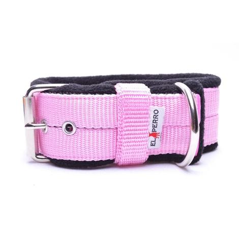 4cm Width Fleece Comfort Dog Collar – Baby Pink