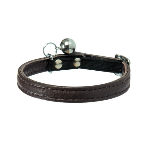 Escapade Leather Cat Collar – Brown