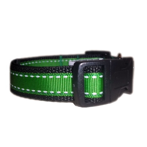 Irish Green Saddle Stitch Dog Collar 2