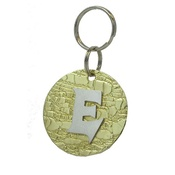The Pet Jeweller - Alphabet Dog ID Tag - Plain silver on textured brass