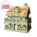 Novelty Cottage Birdhouse - Green