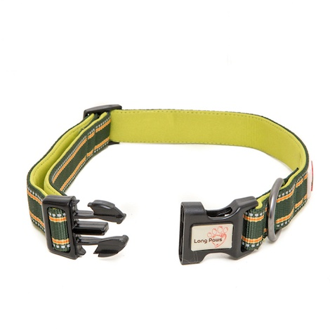 Comfort Padded Dog Collar – Green 2