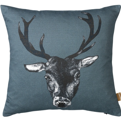 Stag Cushion in Teal