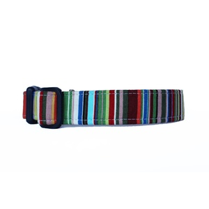 Deckchair Stripes Dog Collar