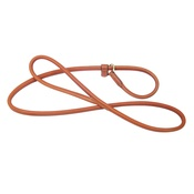 Pear Tannery - Rolled Leather Slip Dog Lead - London Tan