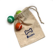 PetsPyjamas Personalised Doggy Canvas Bag and Ball set