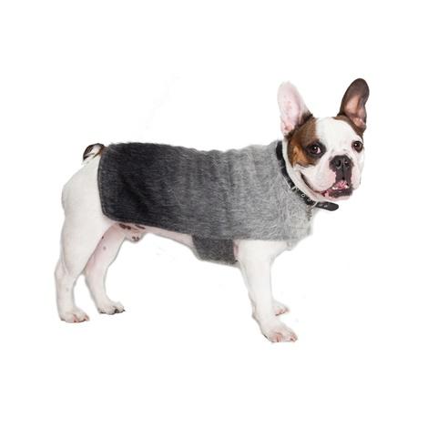 Luxury Grey Mohair Dog Coat