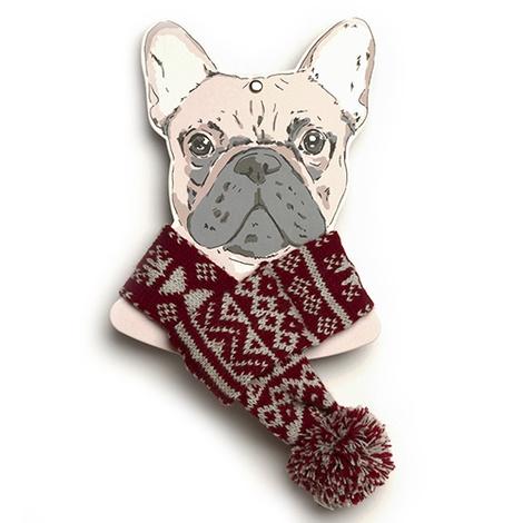 Snowflake Dog Scarf 3