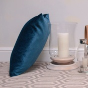 The Lounging Hound - Velvet Scatter Cushion - Teal