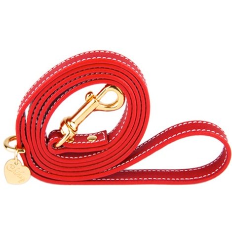 Red and Gold Luxury Leather Lead