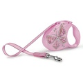 Flexi Glam Retractable Dog Lead – Pink Butterfly
