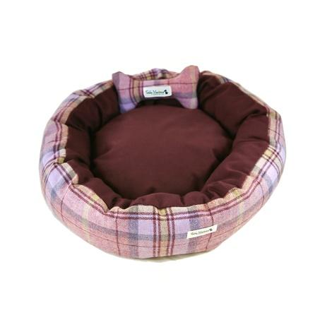 Pink Shetland Wool Luxury Cocoon Dog Bed 3