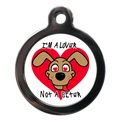 Lover Not A Biter Dog ID Tag
