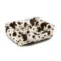Brown Cow Dog Bed