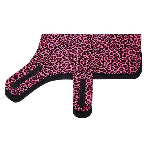 Personalised Pink Leopard Print Dog Coat 2