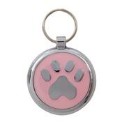 Tagiffany - Smarties Light Pink Paw Pet ID Tag