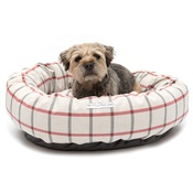 Mutts & Hounds - Nottingham Check Donut Bed