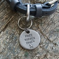 Free Kisses Given Slogan Dog ID Tag 2
