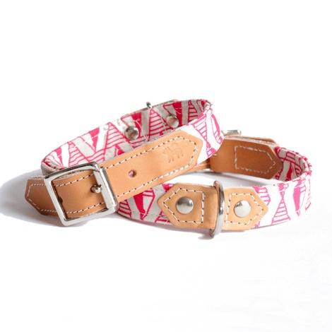 Pink Geo Dog Collar 2
