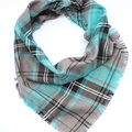 Frayed Buffalo Blue Plaid Dog Bandana