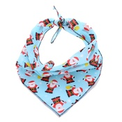 Pet Pooch Boutique - Blue Santa Bandanna