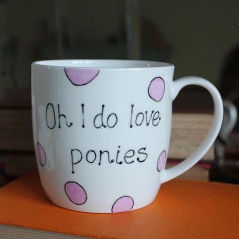 Oh I Do Love Ponies Mug 2