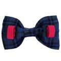 Dog Collar Bow Accessory - Tartan Blue 3