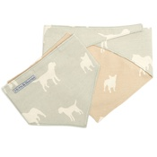 Mutts & Hounds - Powder Blue with Biscuit Lining Neckerchief