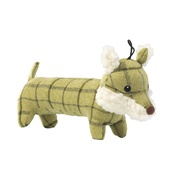 House of Paws - Green Tweed Long Fox Dog Toy