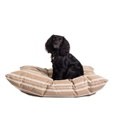 The Lounging Hound - Signature Cotton Dog Bed - Taupe