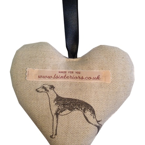 Long Dog Lavender Heart
