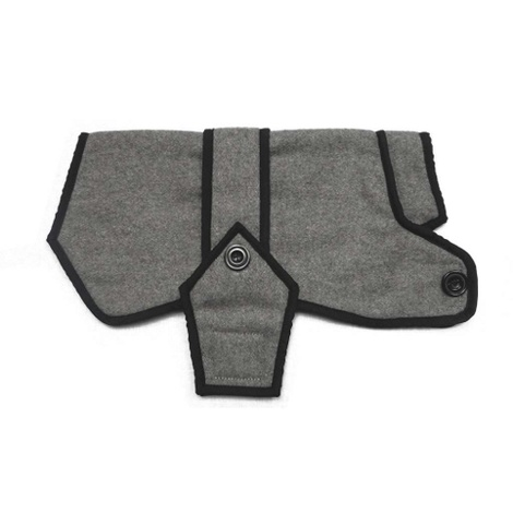 Grey Wool Blazer Dog Coat 3