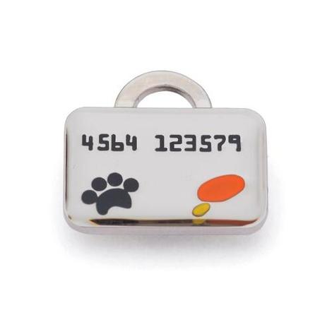 Silver Credit Card Dog Tag