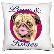 The Graduate Collection - Pugs and Kisses Cushion