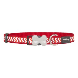 Ziggy Reflective Dog Collar – Red