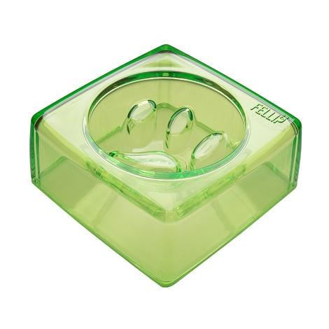 Kristal Good Manners Slow Feeder Pet Bowl - Jade