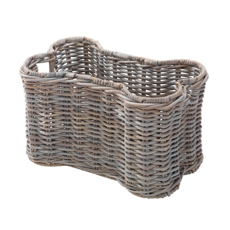 Rattan Kubu Bone Open Storage Dog Basket
