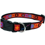 Hem & Boo - Diamonds Adjustable Dog Collar - Red
