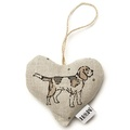 Dogs Linen Lavender Heart Natural - Beagle