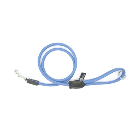 D&H Rolled Leather Lead - Blue