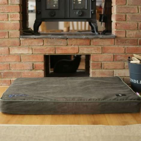 Memory Foam Corduroy Dog Bed – Olive