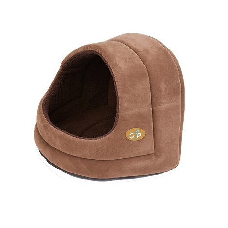 Bruges Hooded Cat Bed - Brown